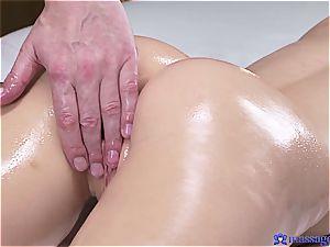 torrid oil massage makes wondrous nubile meatpipe greedy