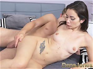 Dane Jones puny freckled Italian dame gets creampie