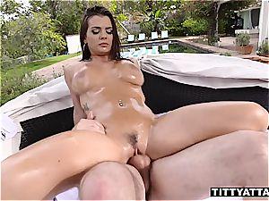 Keisha Grey bounces her oily mounds
