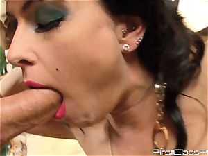 vintage man meat licking black-haired bombshell Jessica Jaymes