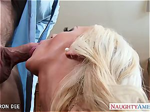 huge-chested honey Cameron Dee gets facialized