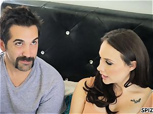 Spizoo - see Chanel Preston deep-throating and tearing up