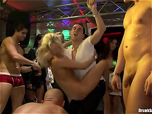 Bibi Fox and drunk pals love black come on face