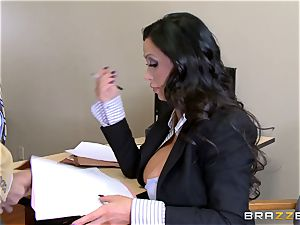 hot lawyer Nikki Benz getting torn up by a immense hard-on