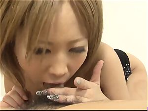 Ai Shirosakia romped rock-hard and made to guzzle ample time