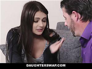 DaughterSwap - super-cute teenage webcam damsel nailed By Bffs dad