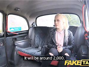 fake taxi bashful platinum-blonde teenager with natural cupcakes