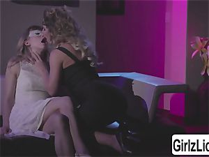 two cool fucksluts Cherie DeVille and Ivy Wolfe jiggly slurping vulvas