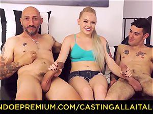 CASTNG ALLA ITALIANA - blonde vixen harsh dp fuck-a-thon