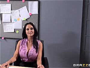 busty lecturer Ava Addams is pulverized by her student
