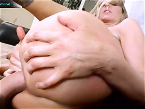 Julia Ann getting her wide open crevice opened up