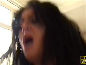 Bigtitted brit roughfucked before facial cumshot